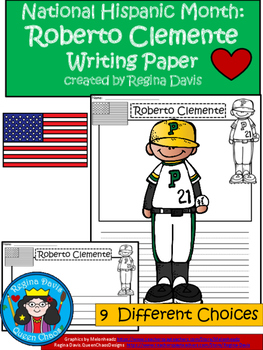 A+ National Hispanic Month:  Roberto Clemente Writing Paper