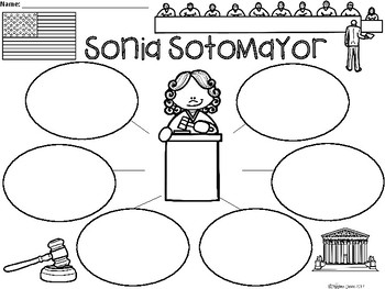 A+ National Hispanic Month: Sonia Sotomayor ...Three Graphic Organizers