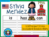 A+ National Hispanic Month: Sylvia Mendez... Three Graphic Organizers