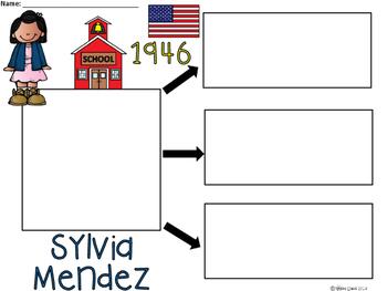 A+ National Hispanic Month: Sylvia Mendez... Three Graphic Organizers