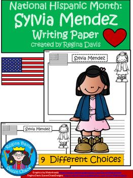 A+ National Hispanic Month: Sylvia Mendez Writing Paper