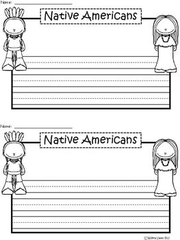 A+ Native Americans ... Writing Paper