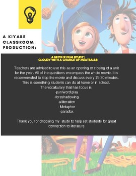 A Netflix Film Movie Study: Cloudy with a Chance of Meatballs