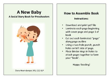 A New Baby - A Social Story for Preschoolers (gender neutral)