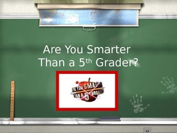 A World Leader Review Game- Are you Smarter than a 5th Grader