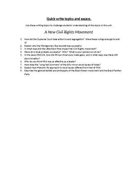 Funny Student Essays A New Civil Rights Movement Writing Topics And Essay Questions Topics For Persuasive Essay also Nurture Essay A New Civil Rights Movement Writing Topics And Essay Questions By  An Essay About Myself