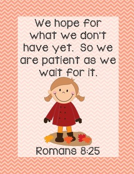 A New Coat For Anna Bible Verse Printable (Romans 8:25)