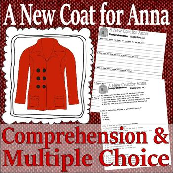 A New Coat for Anna : Christmas Reading Comprehension Multiple Choice Questions