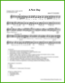 A New Day: Action Song Sheet Music