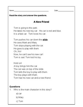 A New Friend - Realistic Fiction in English - Level F
