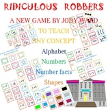 Learn the Alphabet Game - Ridiculous Robbers -
