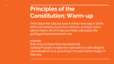 A New Nation - Constitutional Principles