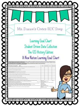 A New Nation Learning Goal Chart