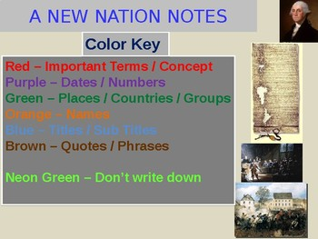 A New Nation Unit Notes
