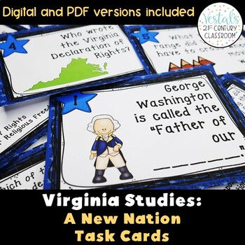A New Nation: Virginia Studies Task Cards