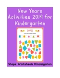 Shape Worksheets Kindergarten | New Years Activities 2019