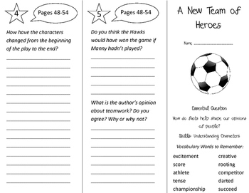 A New Team of Heroes Trifold - Journeys 3rd Grade Unit 6 Week 4 (2011)