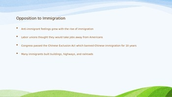 A New Wave of Immigration - Chapter 20 Section 1