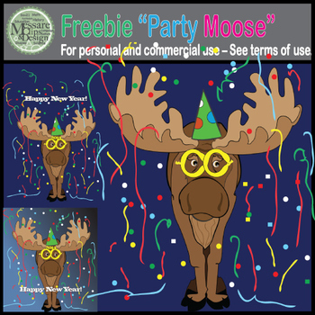 A Freebie Party Moose {Messare Clips and Design}