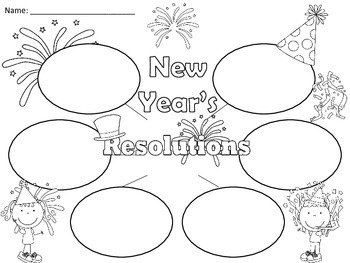 A+  New Year's Resolutions... Three Graphic Organizers