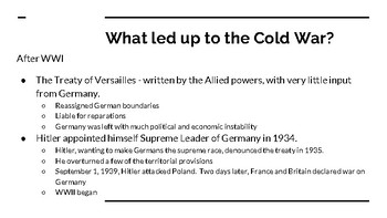 A Night Divided - Background Information to the Cold War and the Berlin Wall