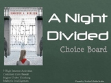 A Night Divided Choice Board Tic Tac Toe Novel Activities