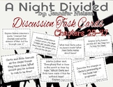 A Night Divided Discussion Task Cards Ch 25-47