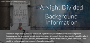 A Night Divided - Google Site for Background Information