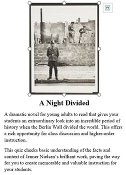 A Night Divided - Quiz on Novel
