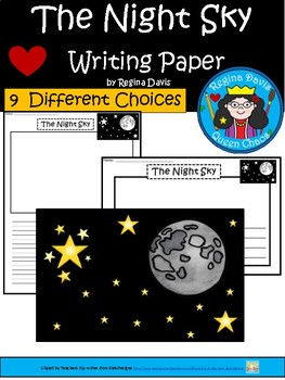 A+ Night Sky ... Writing Paper