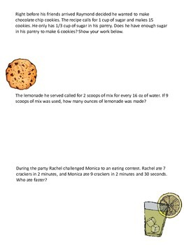 A Night in Italy Proportion Worksheet
