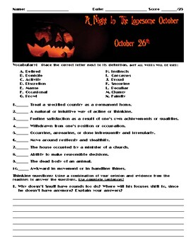 A Night in the Lonesome October by Roger Zelazny Chapter October 26 Assessment