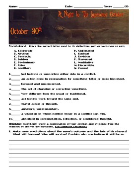 A Night in the Lonesome October by Roger Zelazny Chapter October 30 Assessment