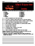A Night in the Lonesome October by Roger Zelazny Novel Study, Worksheets Test