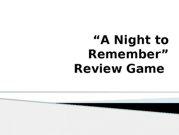 A Night to Remember Review Game