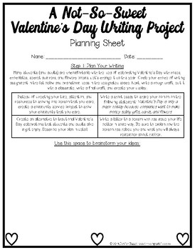 A Not-So-Sweet Valentine's Day Writing Project