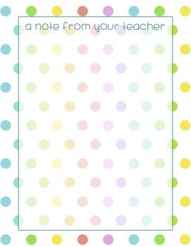 Teacher's Notecards {4 Neon-Rainbow Styles!}