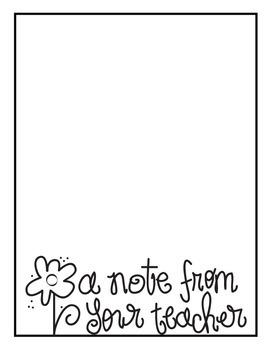 A Note From Your Teacher