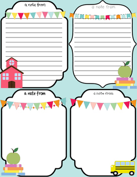 FREEBIE Teacher Notes {Editable}