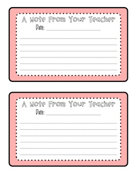 photo relating to Printable Note identify A Take note Against Your Instructor Printable