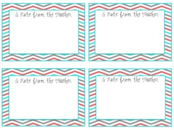 A Note From the Teacher - FREEBIE!
