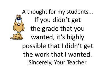 A Note for Students on Expectations