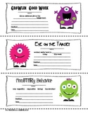 Monster Themed Parent-Teacher Notes (FREE)