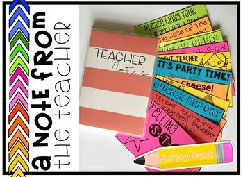 Editable Teacher Notes