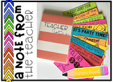Teacher Notes Editable