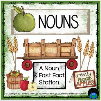 A Noun and Fast Fact Station (Apple Themed)