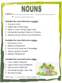 A Noun is a Person, Place, or Thing Worksheet