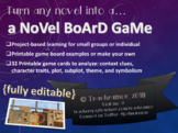 A Novel Board Game-Full Project-Based Learning Unit Plan &