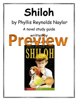 A Novel Study Guide for Shiloh by Phyllis Reynolds Naylor