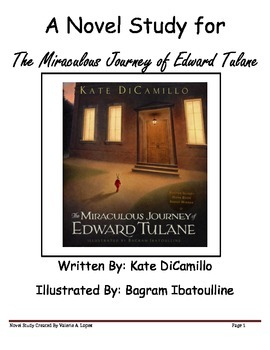 "A Novel Study for ""The Miraculous Journey of Edward Tulane"" By Kate DiCamillo"